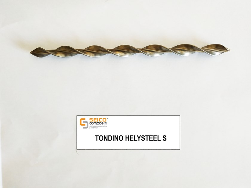 Steel bar, rod, stirrup for reinforced concrete TONDINO HELYSTEEL S® by Seico Compositi
