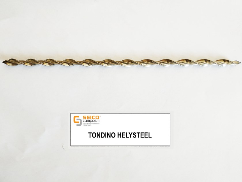 Steel bar, rod, stirrup for reinforced concrete TONDINO HELYSTEEL® by Seico Compositi