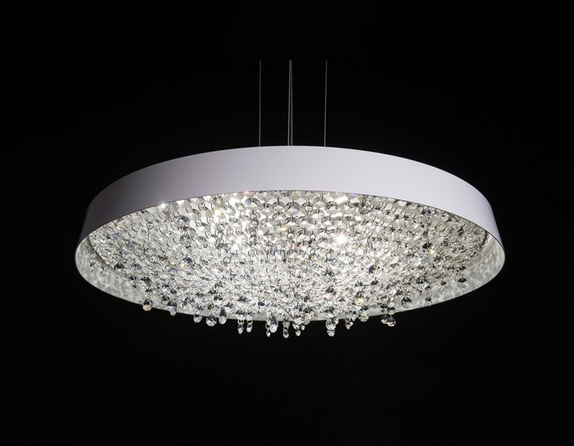 Halogen crystal pendant lamp TONDO | Crystal pendant lamp by Manooi
