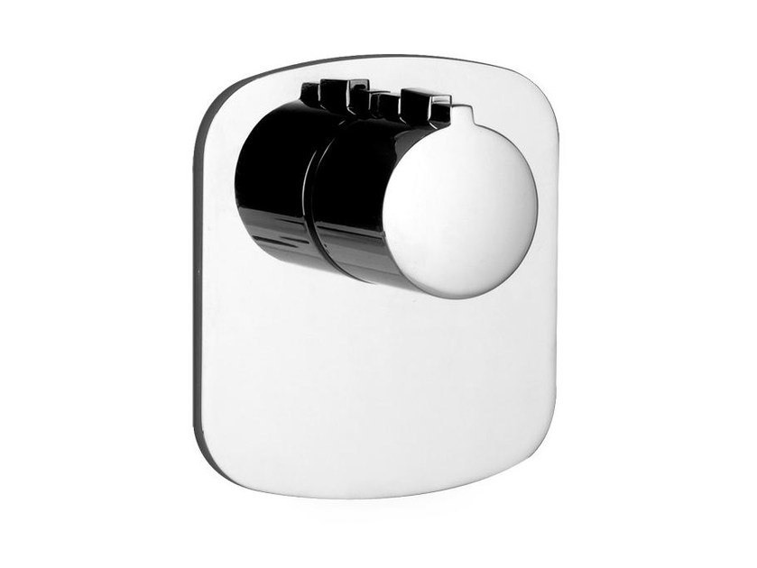 Single handle thermostatic shower mixer TONDO WELLNESS 43256 by Gessi