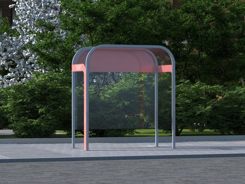 Multifunction porch for bus stop TONI by LAB23 Gibillero Design