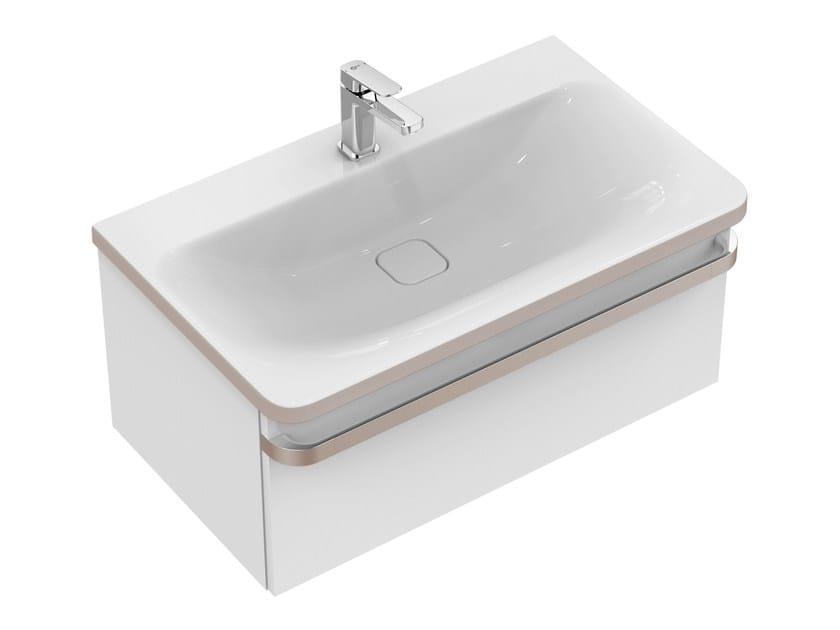 Meuble sous-vasque simple suspendu avec tiroirs TONIC II 80 cm - R4303 by Ideal Standard