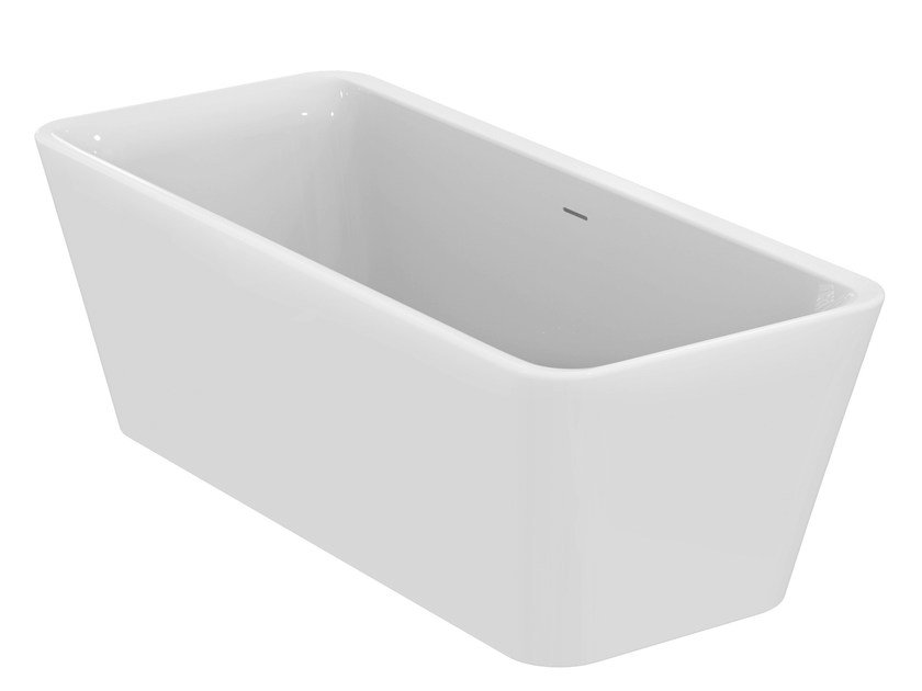 Vasca da bagno centro stanza in ceramica TONIC II - E3981 By Ideal ...