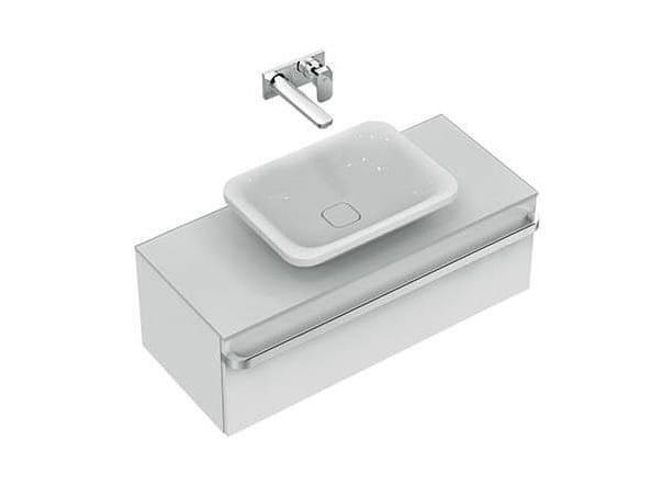 Vasque à poser rectangulaire simple en céramique TONIC II 55 cm - K0834 by Ideal Standard