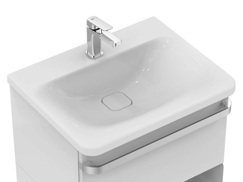 Vasque à encastrer rectangulaire simple en céramique TONIC II 60 cm - K0837 by Ideal Standard