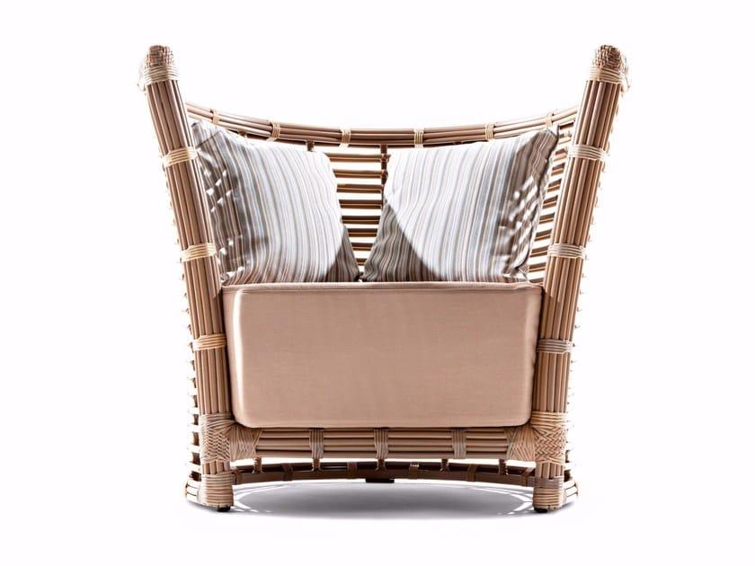 Armchair with synthetic fiber weaving TONKINO | Armchair by Varaschin