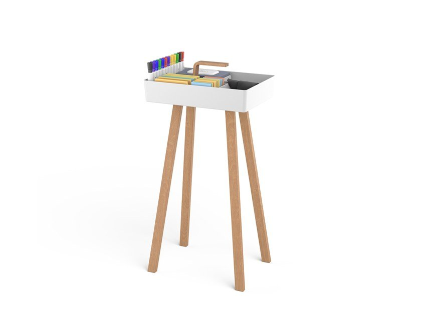 Office side table with storage box TOOLBOX by Studiotools