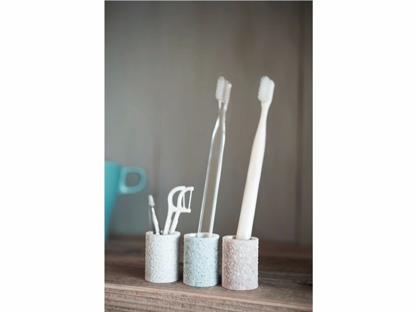Portaspazzolino in diatomite TOOTHBRUSH STAND MINI by soil