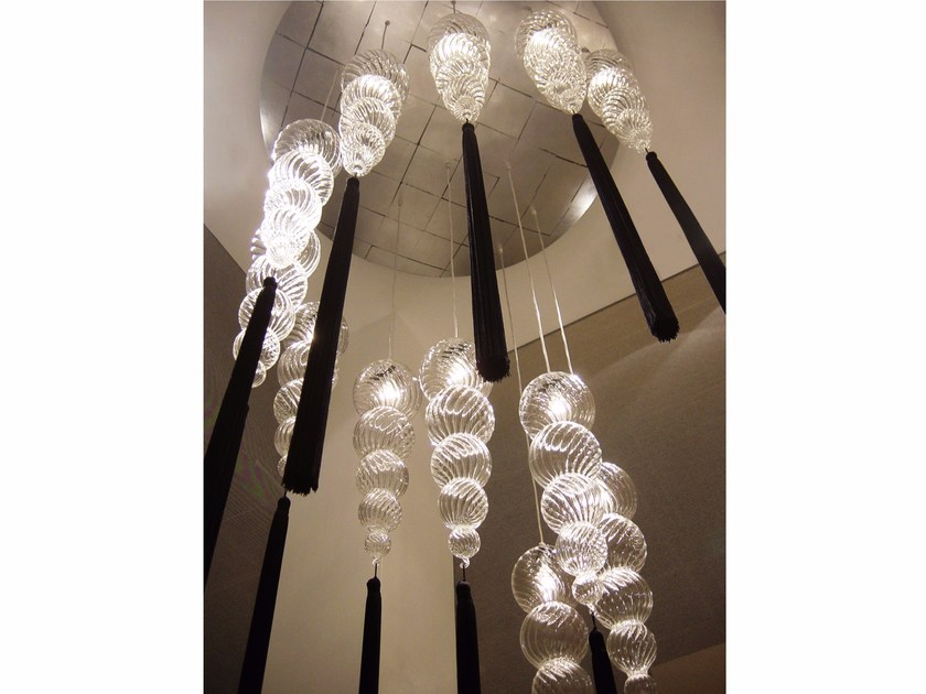 Fiberglass ceiling lamp TOP CHANDELIERS by melogranoblu