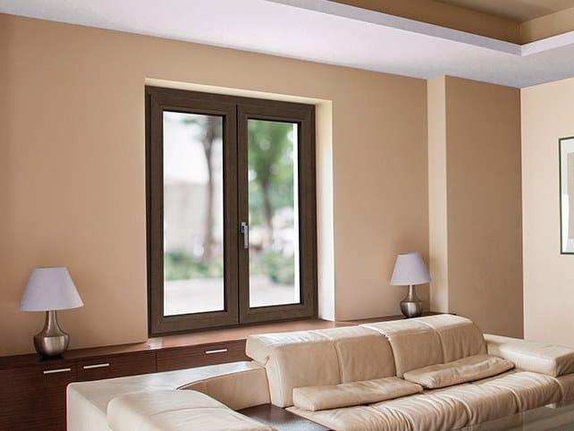 Finestra in alluminio e legno con triplo vetro TOP TB65 WOOD by DOMAL