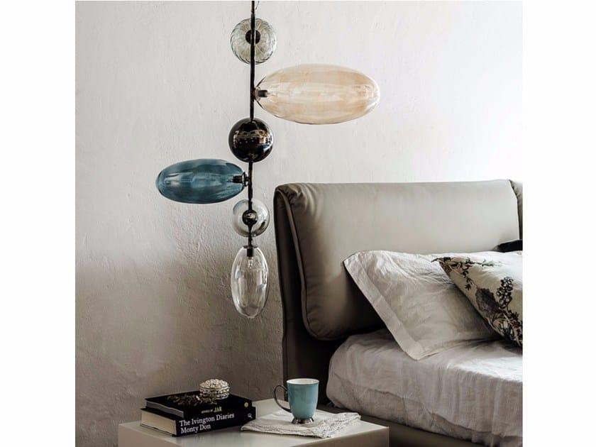 Borosilicate glass pendant lamp TOPAZ by Cattelan Italia