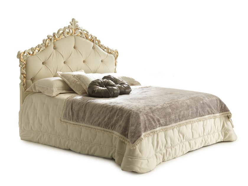 Double bed with tufted headboard TOPAZIO by Bolzan Letti