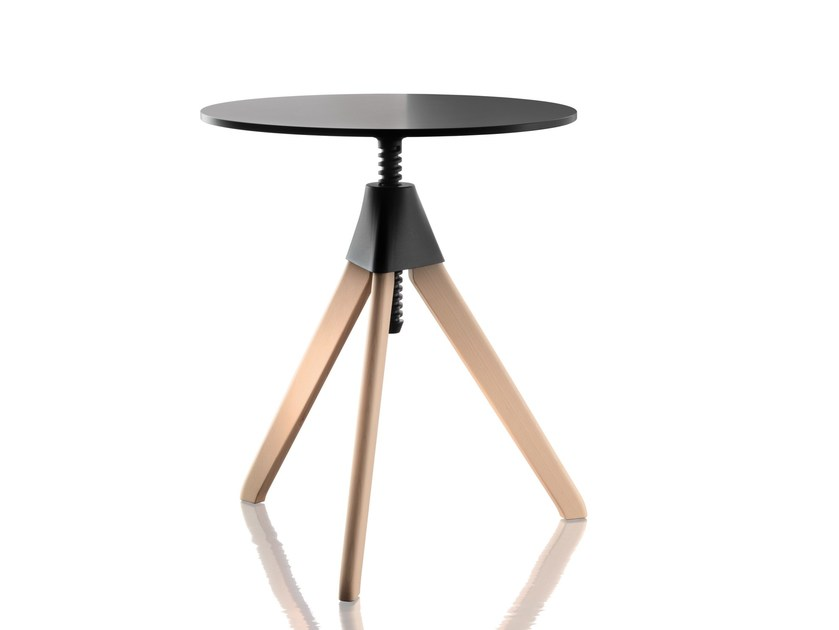 Height-adjustable round coffee table TOPSY – THE WILD BUNCH by Magis