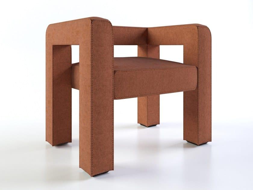 Felt easy chair with armrests TOPTUN | Easy chair by FAINA Collection