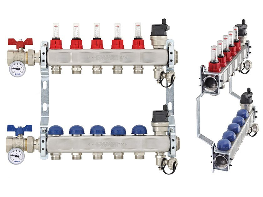 Stainless steel distribution manifold TOPWAY S by EMMETI