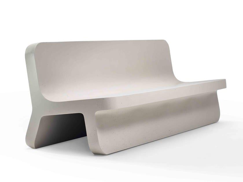 Panca in Cimento® con schienale TORCELLO   Panca by Cimento