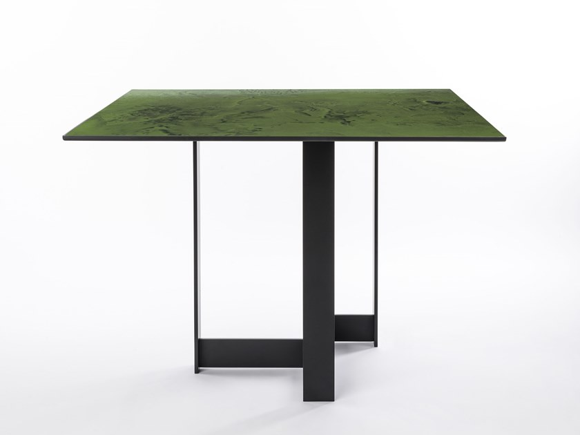 Square iron table TORI | Square table by da a