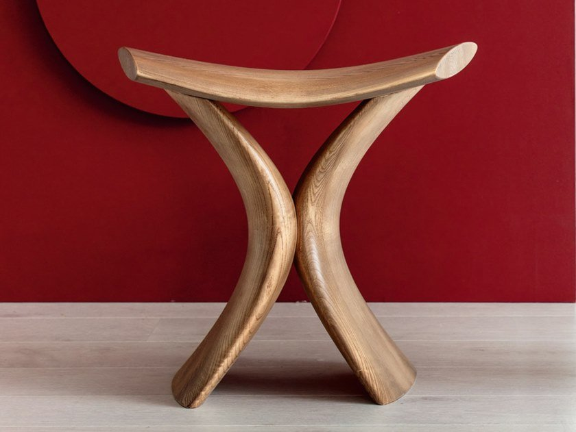 Low ash stool TORII by Porada
