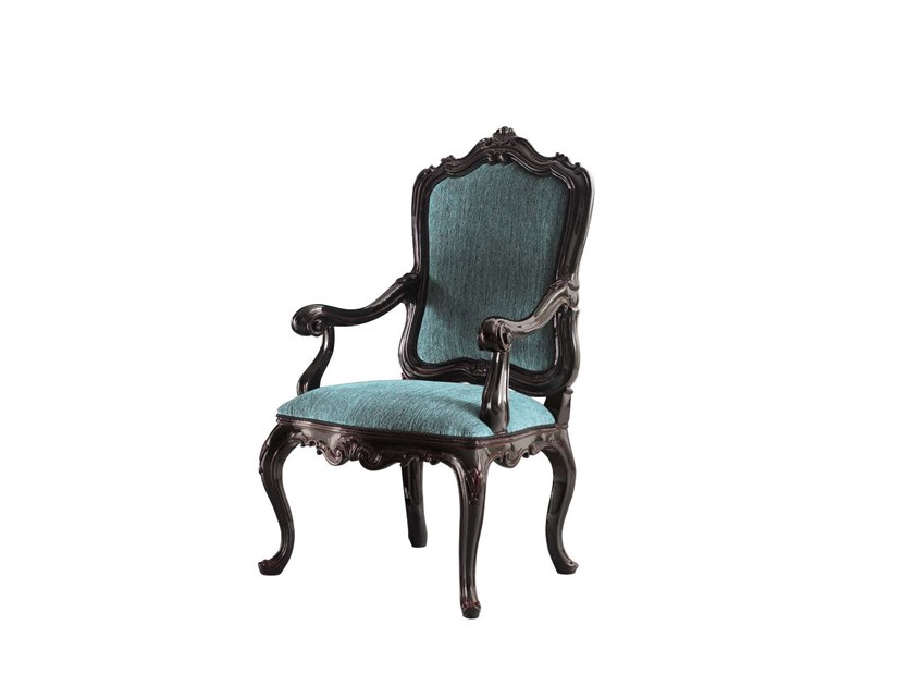 Upholstered fabric chair with armrests TORNABUONI | Chair with armrests by Andrea Fanfani