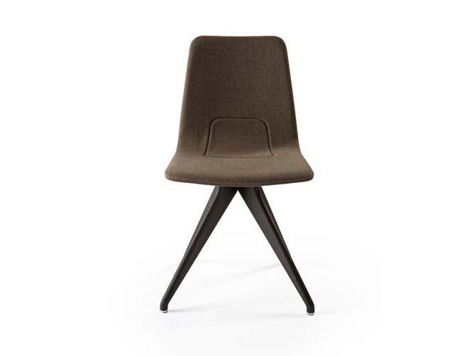 Trestle-based fabric chair TORSO | Chair by Potocco