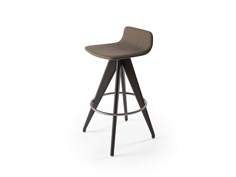 Trestle-based fabric stool TORSO | Trestle-based stool by Potocco