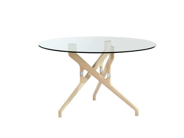 Wood and glass table TORSO   Table by Potocco