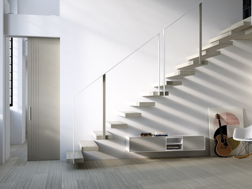 Lacquered sliding door TORTORA SOFT PURA by BARAUSSE