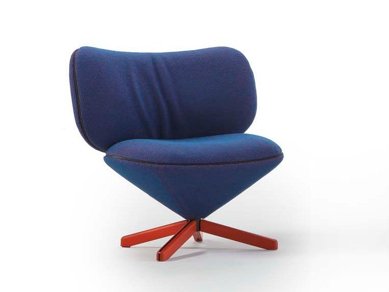 Fabric easy chair with 4-spoke base MINI TORTUGA | Fabric easy chair by Sancal
