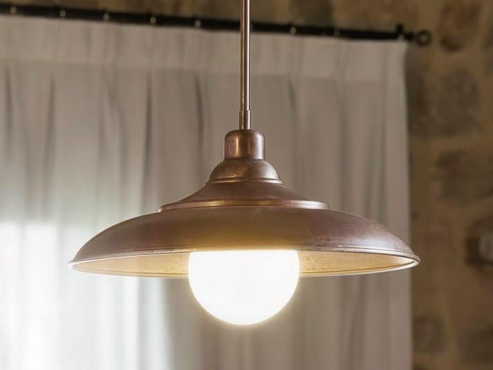Brass pendant lamp tosca brass pendant lamp by aldo bernardi