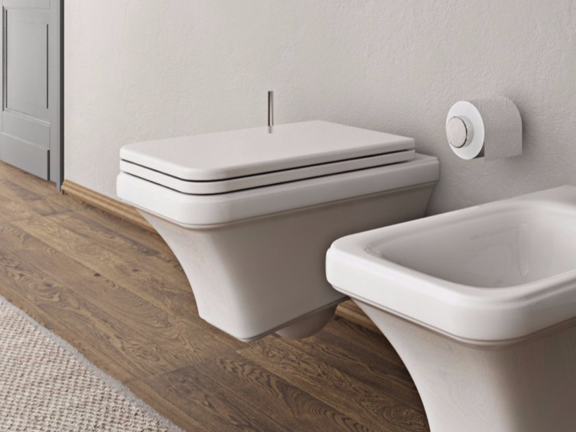 Ceramic toilet TOSCA | Wall-hung toilet by Hidra Ceramica