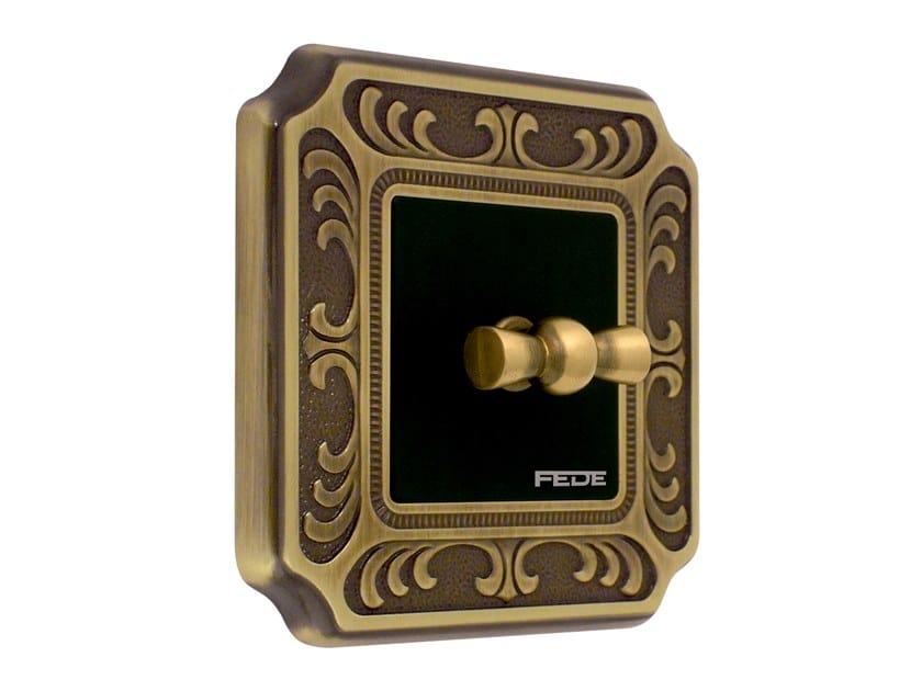 Brass wiring accessories SIENA by FEDE