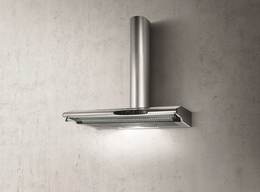 Wall-mounted stainless steel cooker hood with activated carbon filters TOTEM by Elica