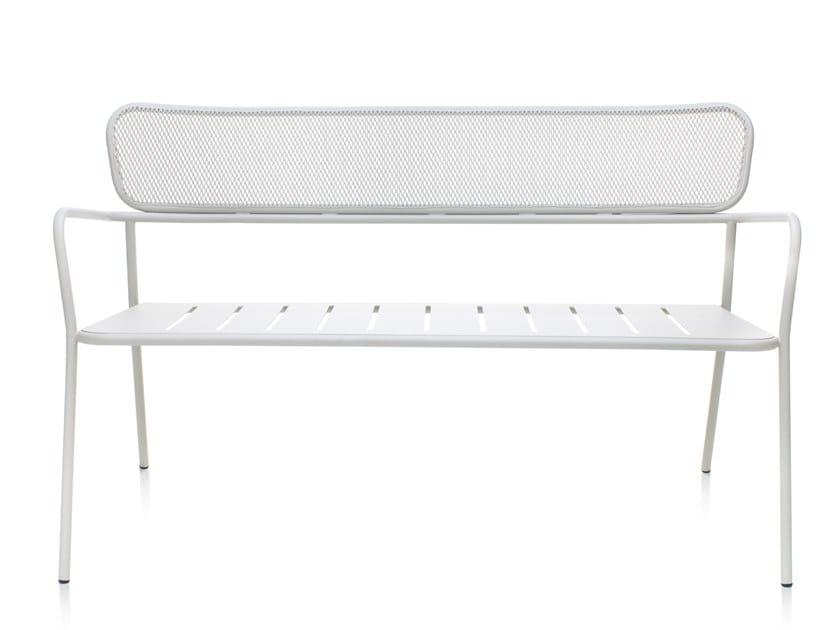 Metal garden bench with back TOTEM | Garden bench by Garda Furniture