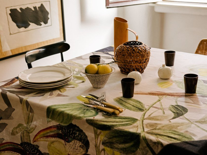 Linen tablecloth TOUCANS | Tablecloth by The NapKing