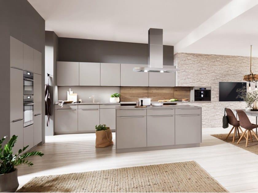 Cucina Componibile Con Isola E Maniglie Touch 341 By Nobilia