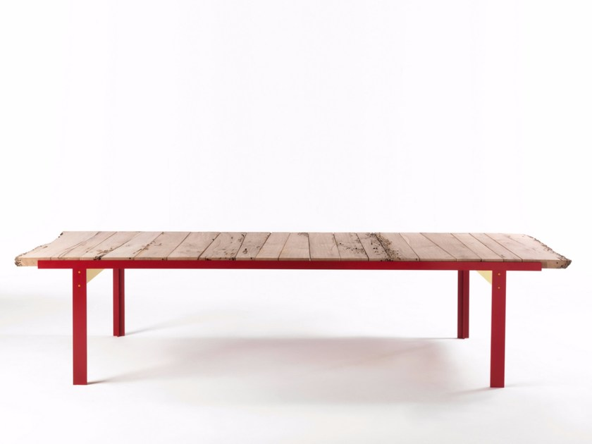 Rectangular briccola wood table TOUCH BRICCOLE by Riva 1920