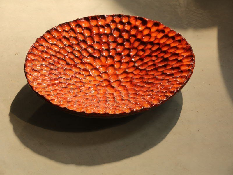 Terracotta dinner plate TOUCH by Domani