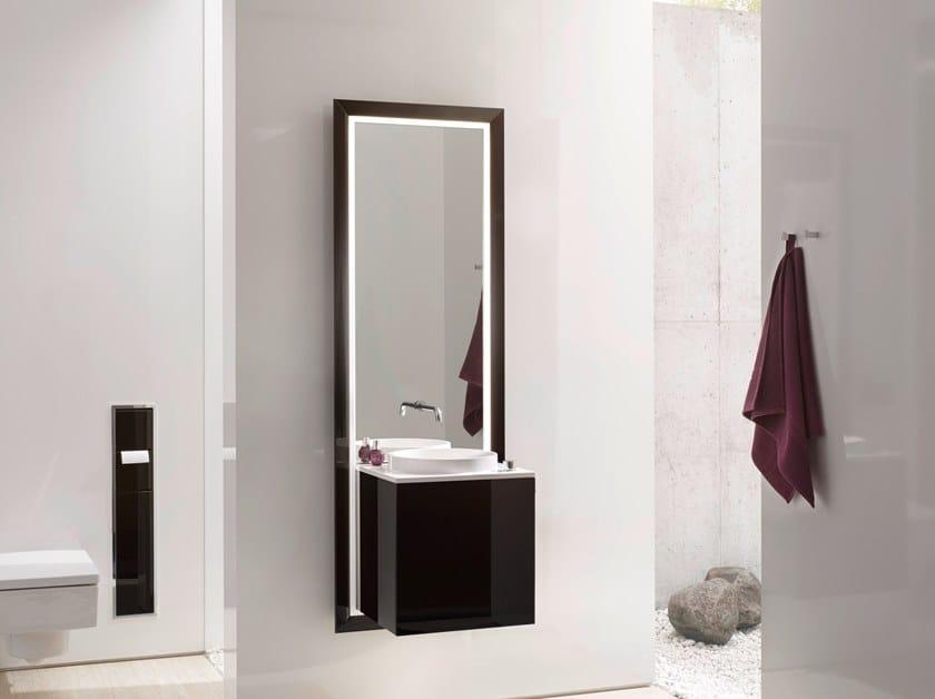 Mobile lavabo sospeso con specchio TOUCH 450 by Emco Bad