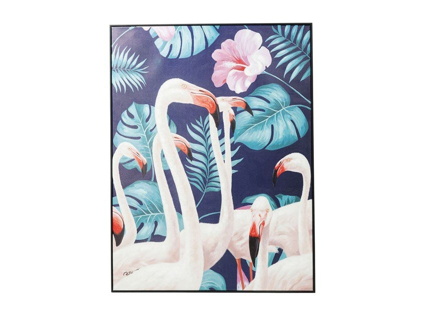 Painting TOUCHED FLAMINGO ROAD | Painting by KARE-DESIGN