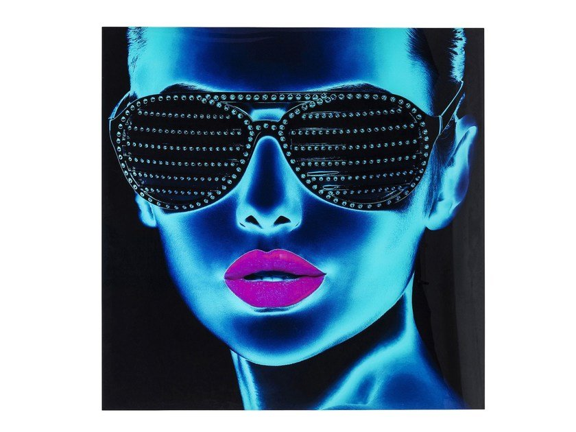 Tempered glass Print on glass TOUGH GIRL by KARE-DESIGN