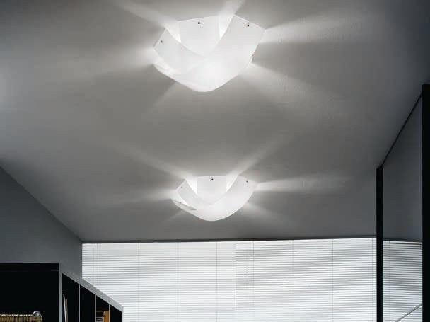 Blown glass ceiling light TOURBILLON | Ceiling light by PANZERI
