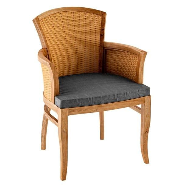 Deco teak garden chair with armrests TOURNESOL | Garden chair with armrests by ASTELLO