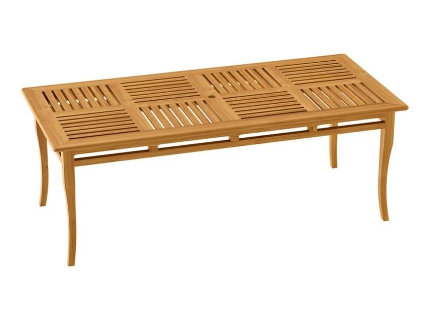 Deco rectangular teak garden table TOURNESOL | Rectangular garden table by ASTELLO