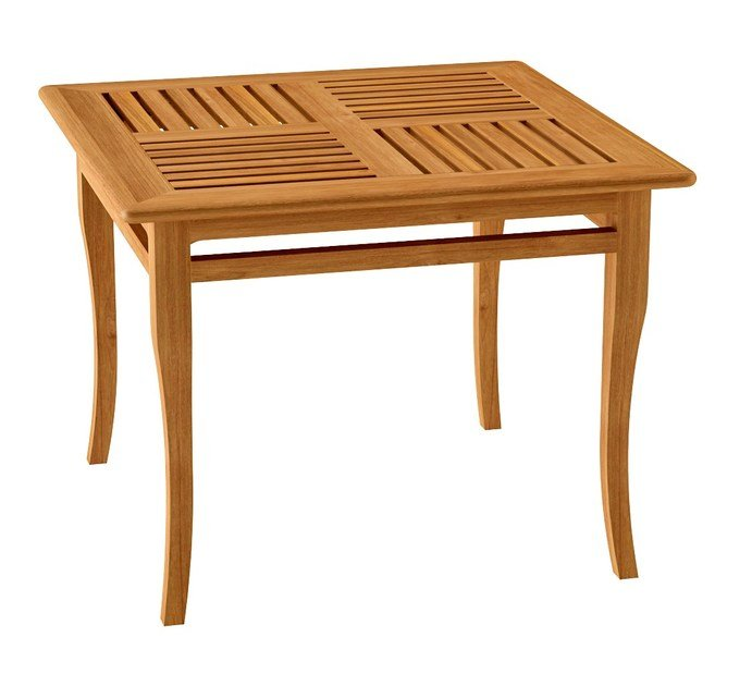 Deco square teak garden table TOURNESOL | Square table by ASTELLO