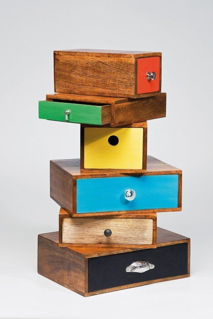 design Cassettiera Babalou Legno In Tower Kare qzSpMUV
