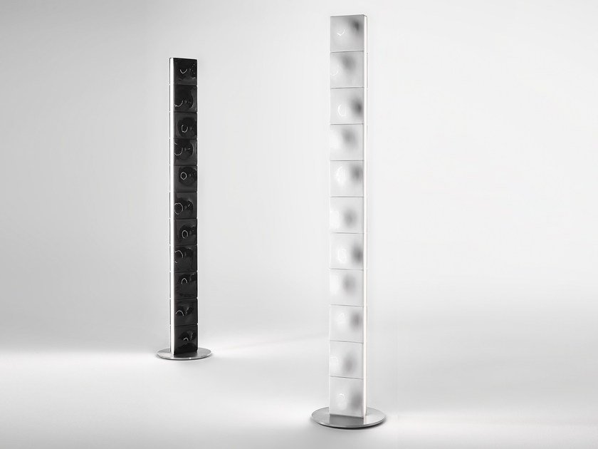 Direct light steel floor lamp TOWER by Exporlux