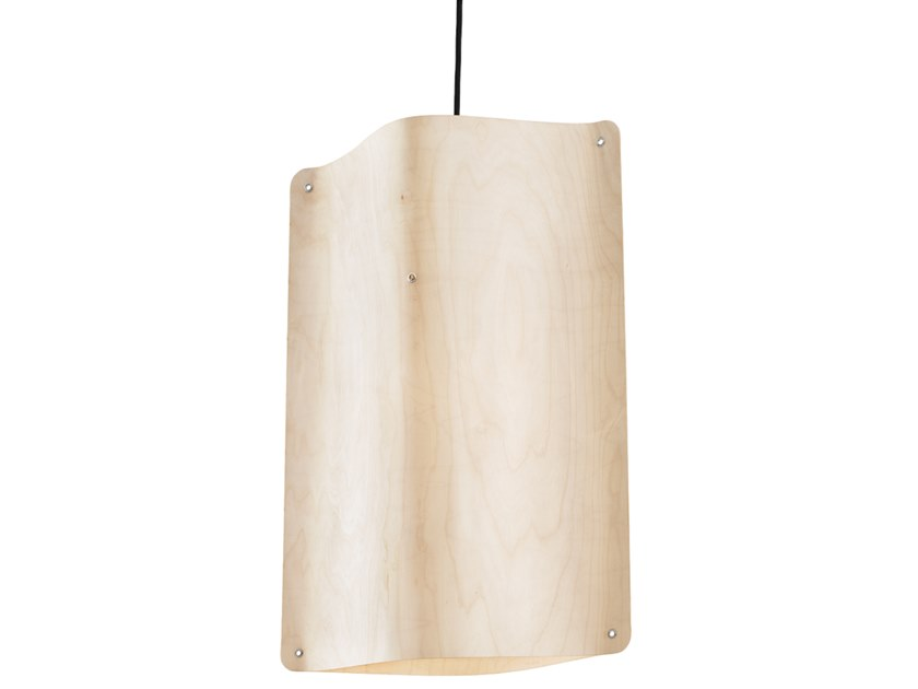 LED multi-layer wood pendant lamp TALL PENDANT MEDIUM by Finom Lights