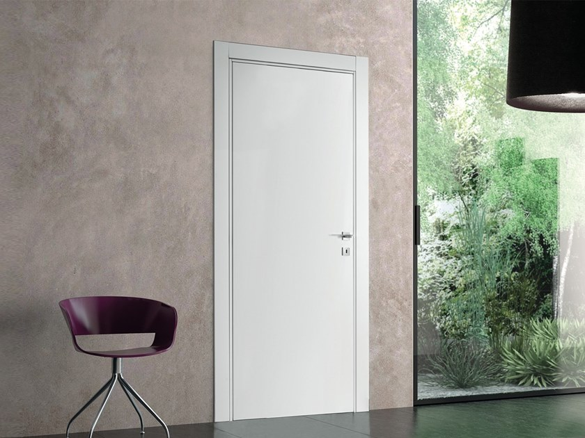 Hinged acoustic fire-rated wooden door TPNR30 by BARAUSSE