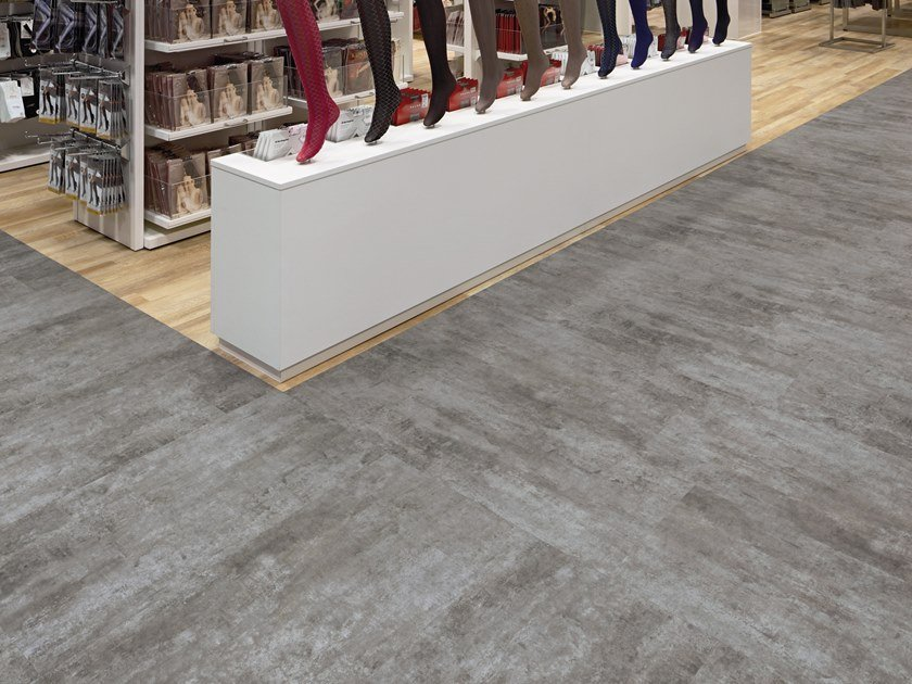 PVC flooring with stone effect TR 725 by PROJECT FLOORS