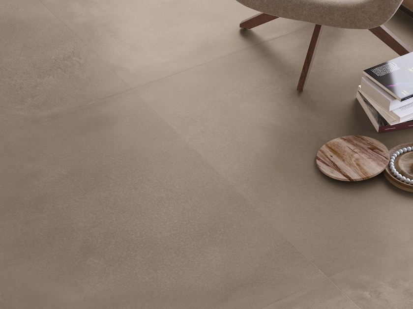 Porcelain stoneware flooring with concrete effect TR3ND SAND CONCRETE by Ergon by Emilgroup
